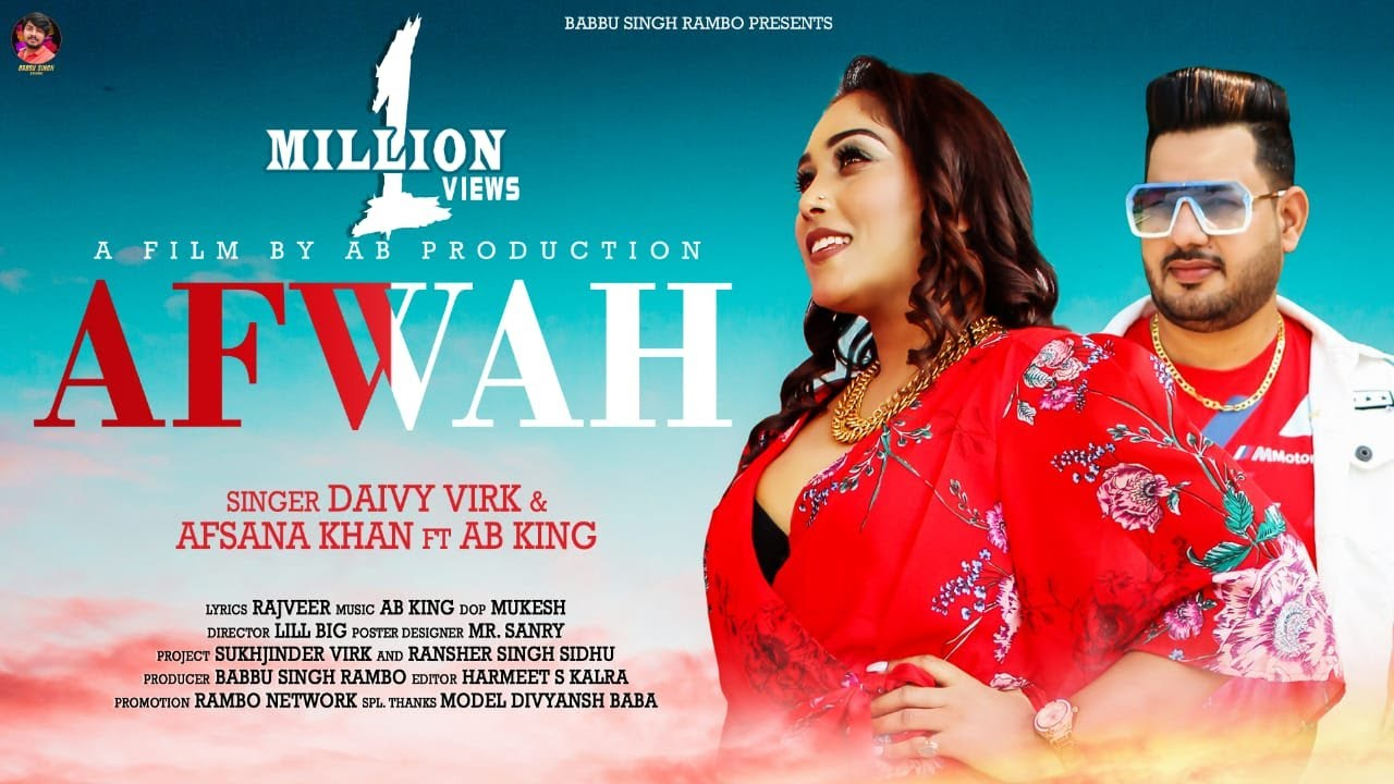Daivy Virk ft Afsana Khan & AB King – Afwah